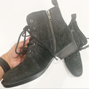 Born black lace up booties 6